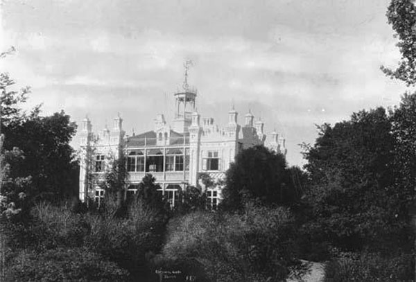 Villa Aldersro ca. 1905.Villaen blev opført omkring 1870.K ilde: Aarhus Billeder