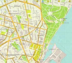 Kort over Trøjborg